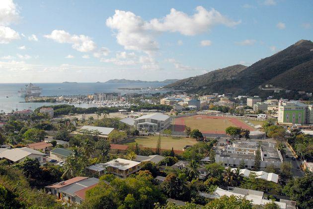 Une vue des îles Vierges britanniques, connues pour être un paradis fiscal, le 3 avril