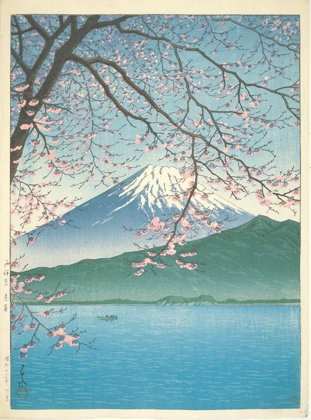 川瀬巴水「西伊豆木負」(1937年6月)