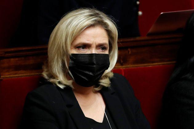 Marine Le Pen photographiée en janvier 2021 à l'Assemblée nationale REUTERS/Gonzalo