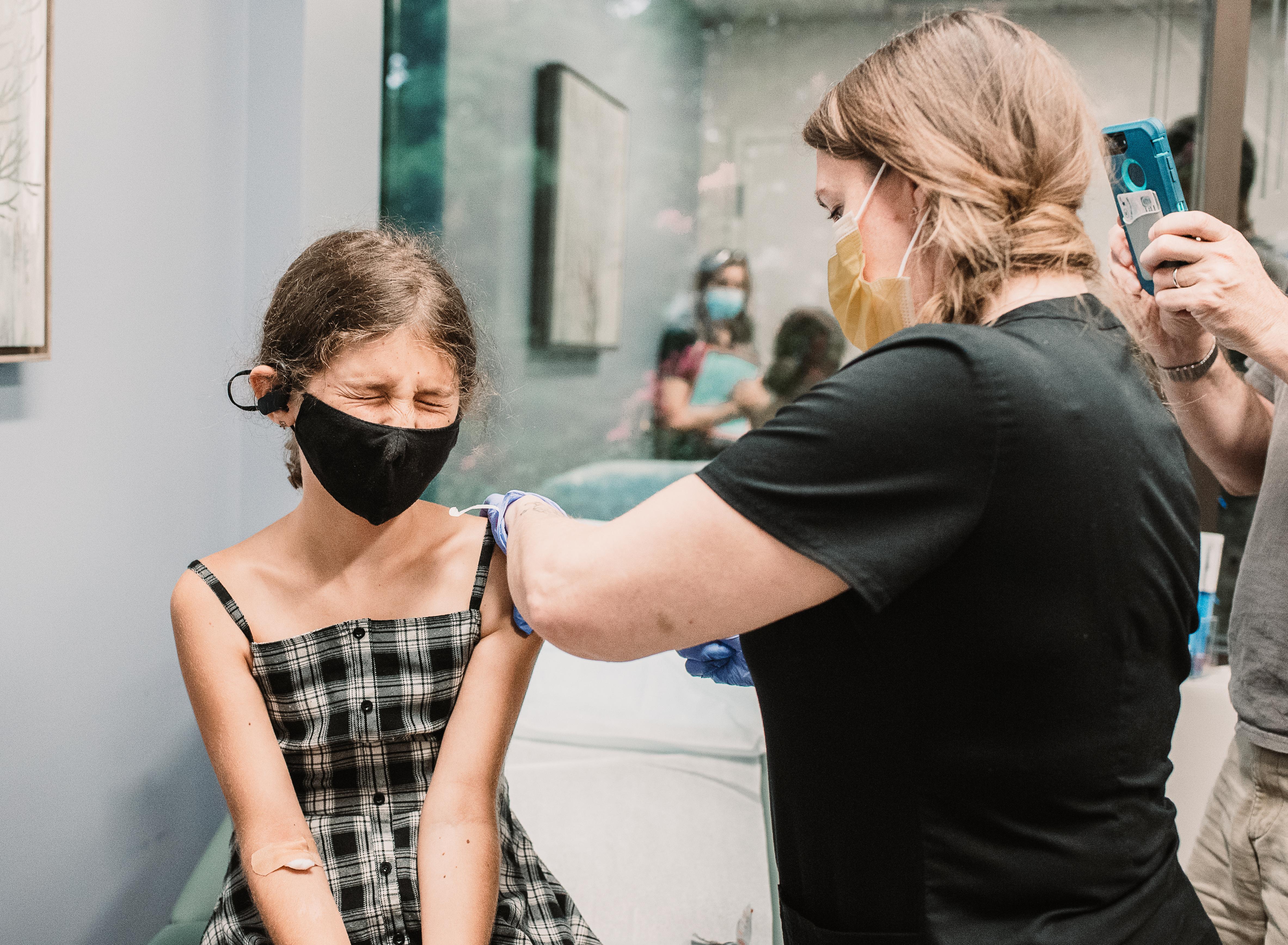 Kids getting vaxxed