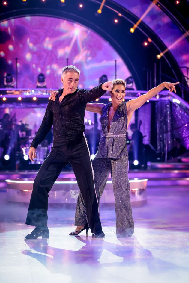 Greg Wise and Karen Hauer on the Strictly dance floor last