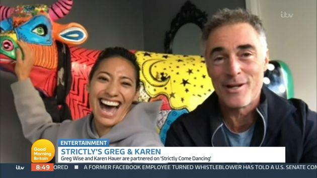 Greg appeared on Good Morning Britain with dance partner Karen