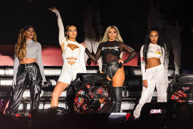 Little Mix performs as a foursome in