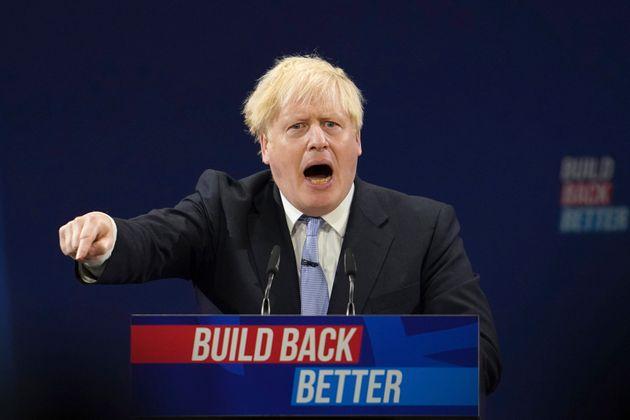Boris Johnson, durante su intervención de esta mañana en