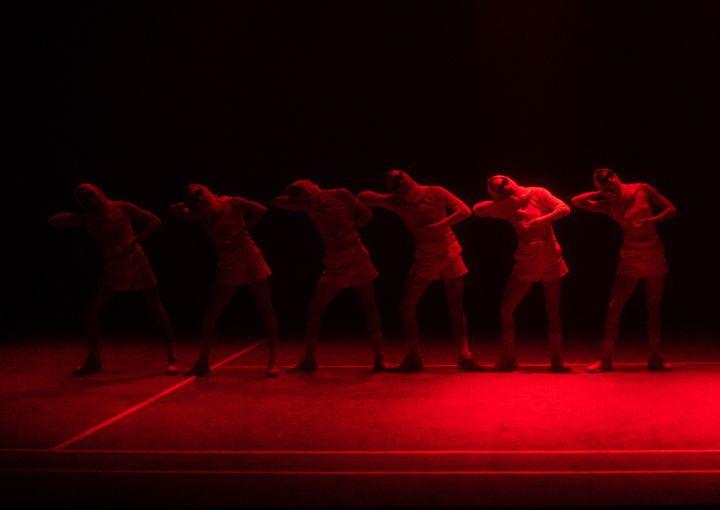 Presentación del espectáculo IGRA de la compañía KOR'SIA en el Centro de Cultura Contemporánea Conde Duque en Madrid, Spain