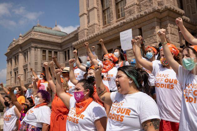 La loi anti-avortement draconienne du Texas suspendue par la justice (photo du 1er septembre à Austin au Texas)