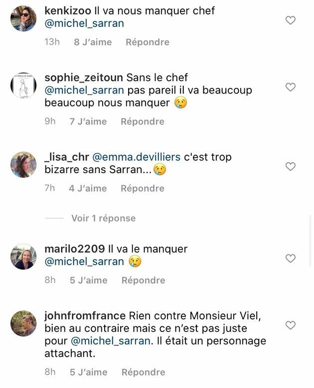 Commentaires sous la photo d'Hélène Darroze