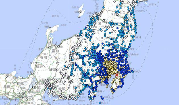 気象庁公式サイトの地震情報