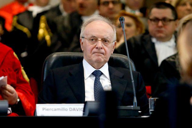Piercamillo Davigo alla cerimonia di inaugurazione dell'Anno Giudiziario a Palazzo di Giustizia a Milano,...