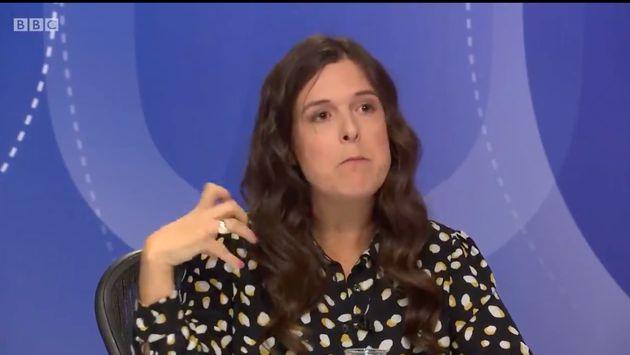 Comedian Rosie Jones on BBC Question