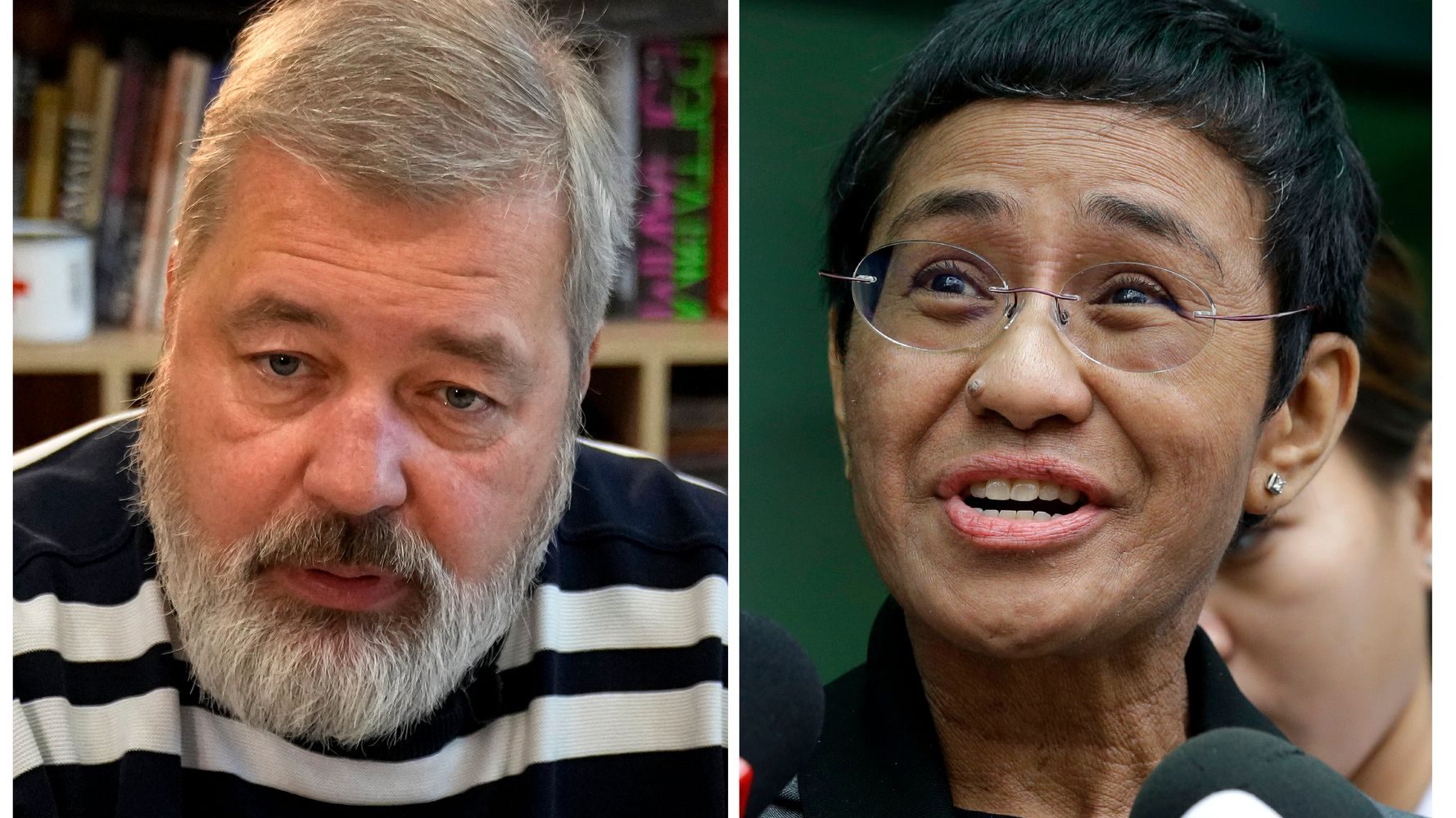 Nobel Peace Prize Is Awarded To Journalists Maria Ressa, Dmitry Muratov