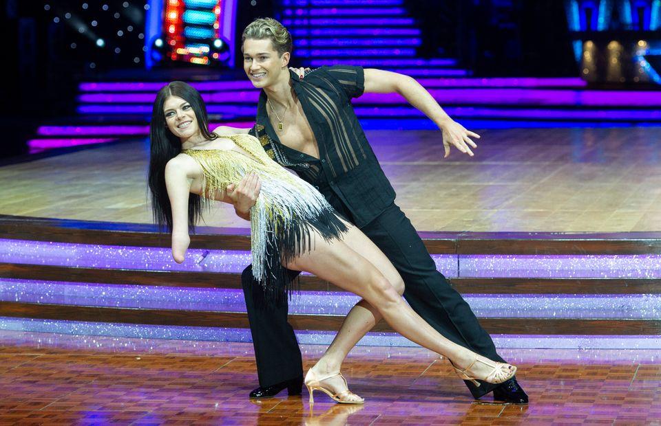 Lauren with dance partner AJ