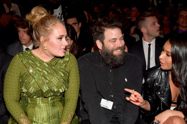 Adele and her ex-husband Simon Konecki at the Grammys in