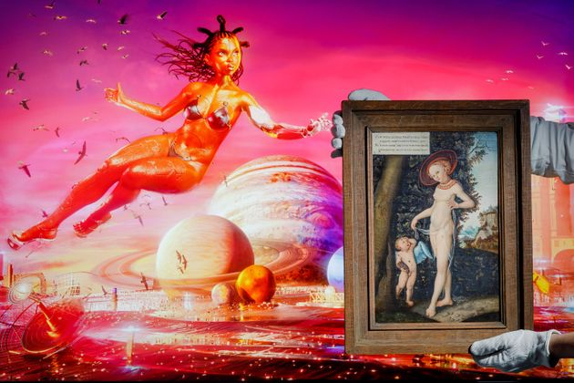 LONDON, ENGLAND - JUNE 04: Serwah Attafuuah's Creation of My Metaverse (Between this World and the Next)...