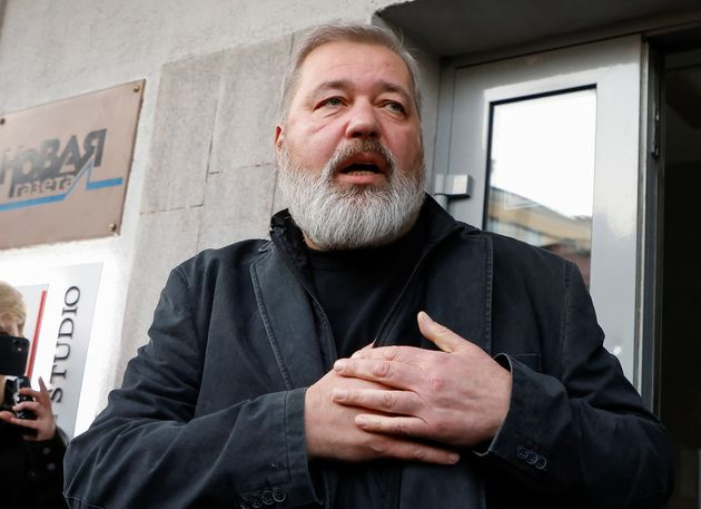 Dmitri Mouratov, le prix Nobel de la paix 2021, le 8 octobre 2021.