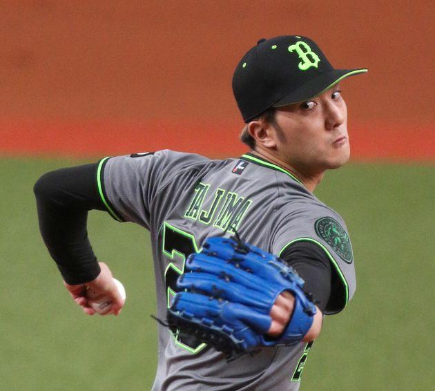 力投するオリックス先発の田嶋大樹投手=2021年7月7日、京セラドーム大阪