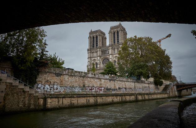 Kathedrale Notre-Dame-de-Paris, fotografiert am 5. Oktober