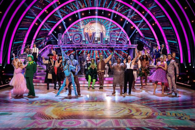 The Strictly couples pictured ahead of their Movie Week