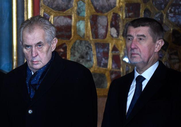 Andrej Babis et Milos Zeman, ici le 15 janvier 2018.