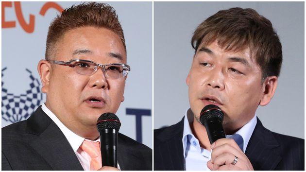 サンドウィッチマンの(左から)伊達みきおさん、富澤たけしさん