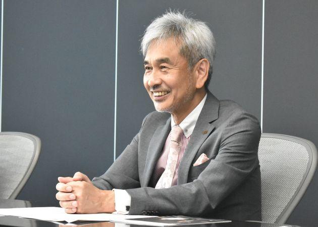 インタビューに応じる芝浦工業大学の山田純学長
