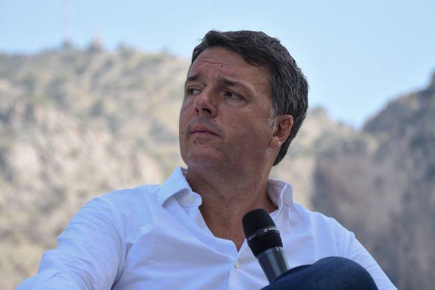 """Senator Matteo Renzi, leader of the Italian political party Italia Viva, presented his book """"Contro..."""