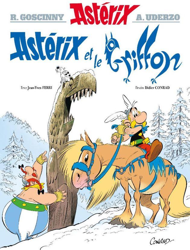 La couverture du nouvel album des aventures d'Astérix et Obélix en librairie le 21 octobre