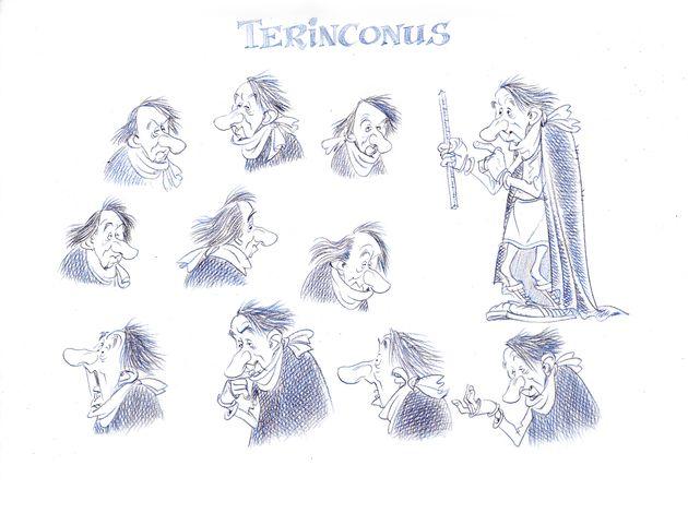 Terinconus est le géographe de César dans