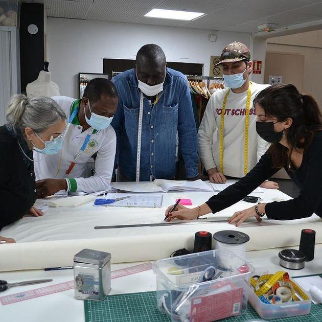 La Fabrique Nomade lors du processus de création de la capsule avec le Slip Français et Agnès B.
