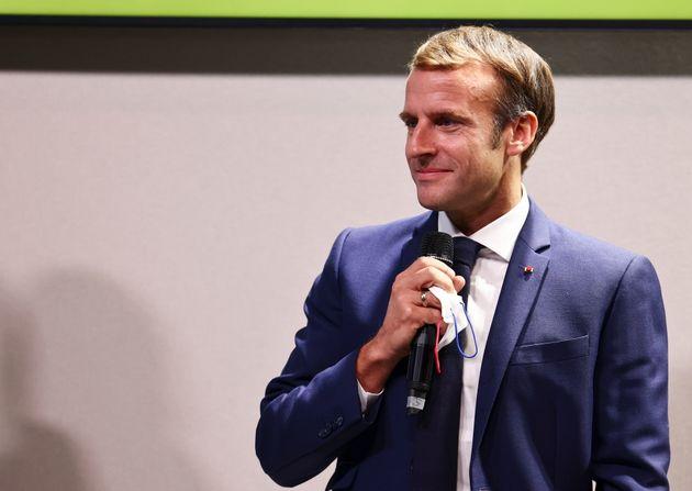 Emmanuel Macron photographié au sommet Afrique-France le 8 octobre à Montpellier
