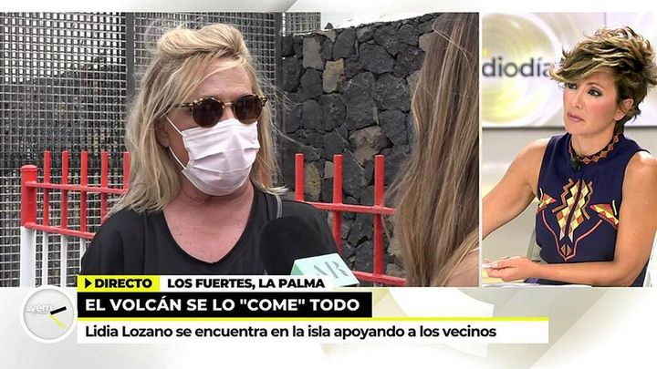 Lydia Lozano, enviada especial a La Palma.
