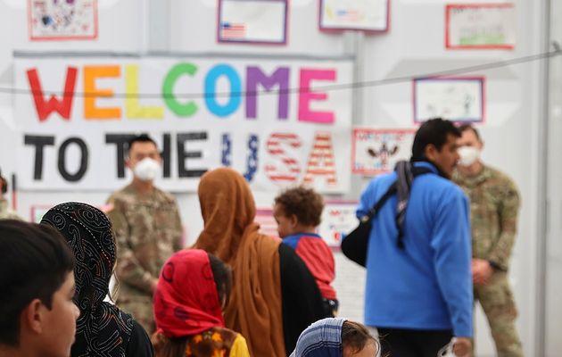 Photo d'illustration prise en Allemagne le 9 octobre, où des Afghans évacués arrivent...