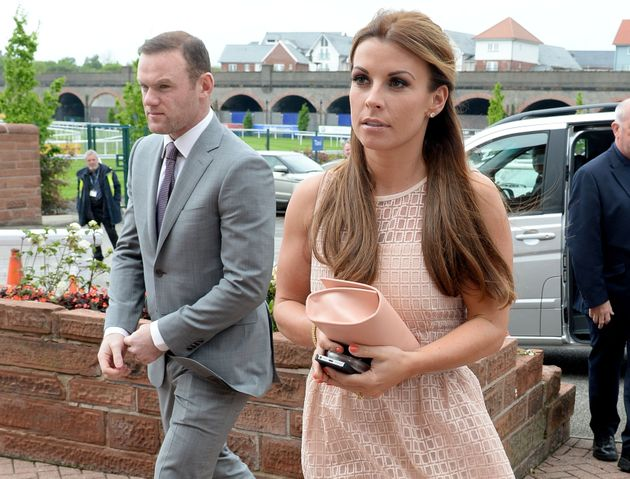 Wayne and Coleen Rooney on a day at the races in
