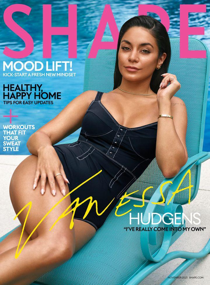 Hudgens' Shape magazine goes on sale Oct. 15.