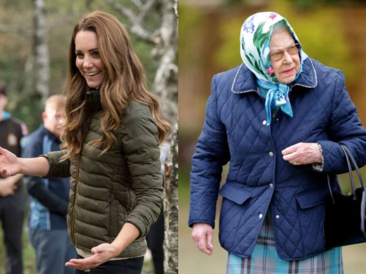 The British royals have been known to sport quilted jackets during public outings.