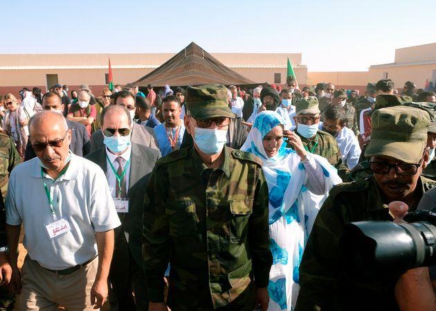 El líder del Frente Polisario, Brahim Ghali, en los campos de
