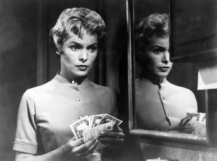 """Janet Leigh in a scene from the film """"Psycho."""""""
