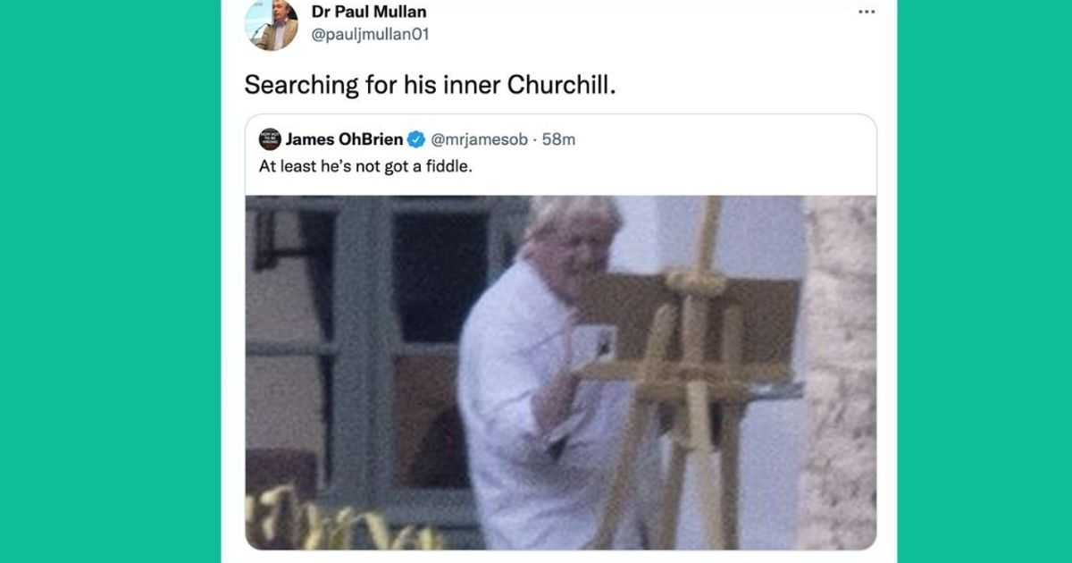 Boris Johnson Channels Churchill By Painting While On Holiday – But No-One Is Impressed