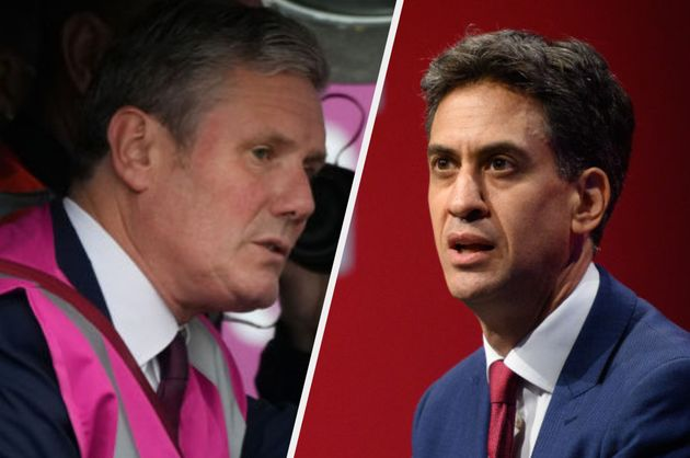 Sir Keir Starmer on Tuesday (L) and shadow cabinet minister Ed
