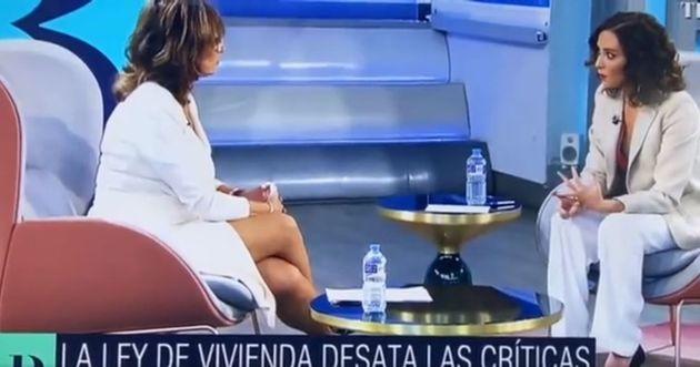 Díaz Ayuso, durante su entrevista en 'El Programa de Ana
