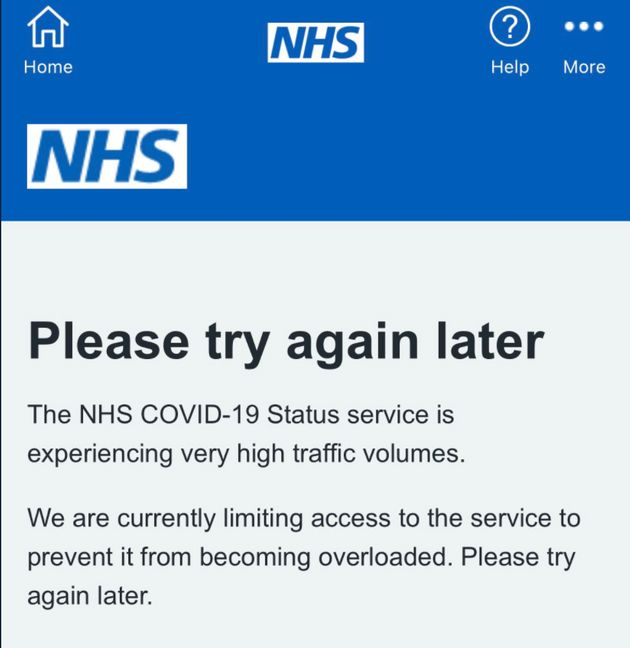 The NHS Covid App went down on