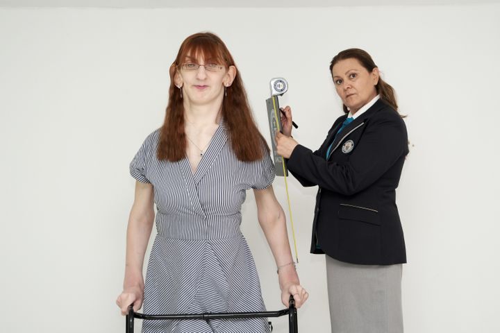Rumeysa Gelgi of Turkey is now officially the world's tallest woman, standing at 7 feet, 0.7 inches.
