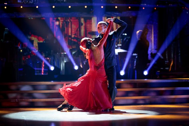 Robert Webb and Dianne Buswell performing earlier this