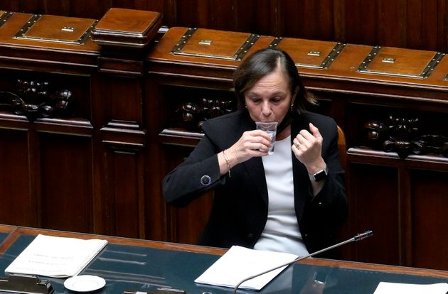 Italian Interior Minister, Luciana Lamorgese, during a Question Time at the Lower House on the management...