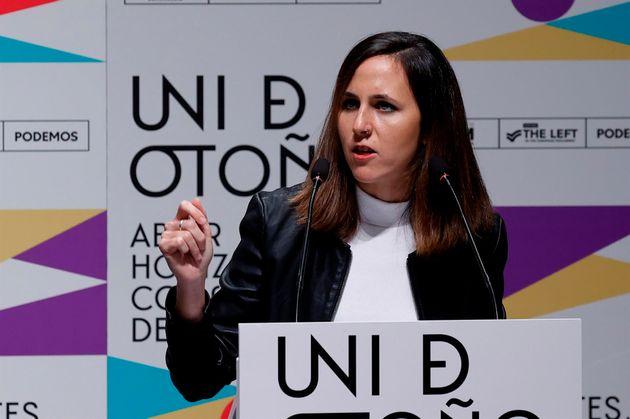 Der Vorsitzende von Podemos und Minister für soziale Rechte, Ione