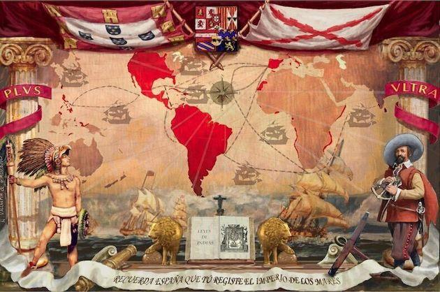 El mapa usado por Vox, uniendo España y