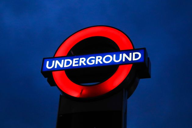The sign for the London underground