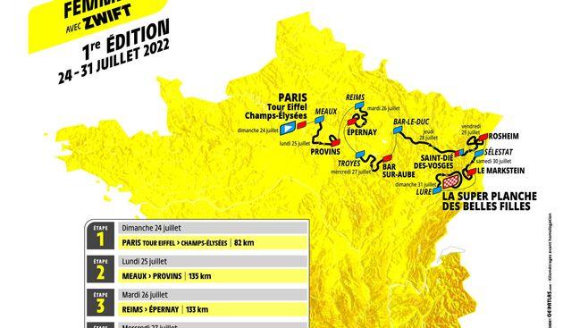 Ce jeudi 14 octobre, ASO a dévoilé le parcours du Tour de France féminin, épreuve qui fait son retour au calendrier après 13 ans d'absence.
