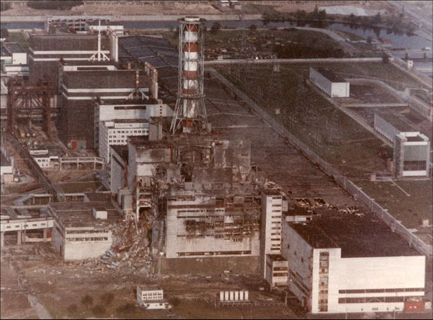 CHERNOBYL, UKRAINE- APRIL 29: View of the Chernobyl Nuclear power plant three days after the explosion...