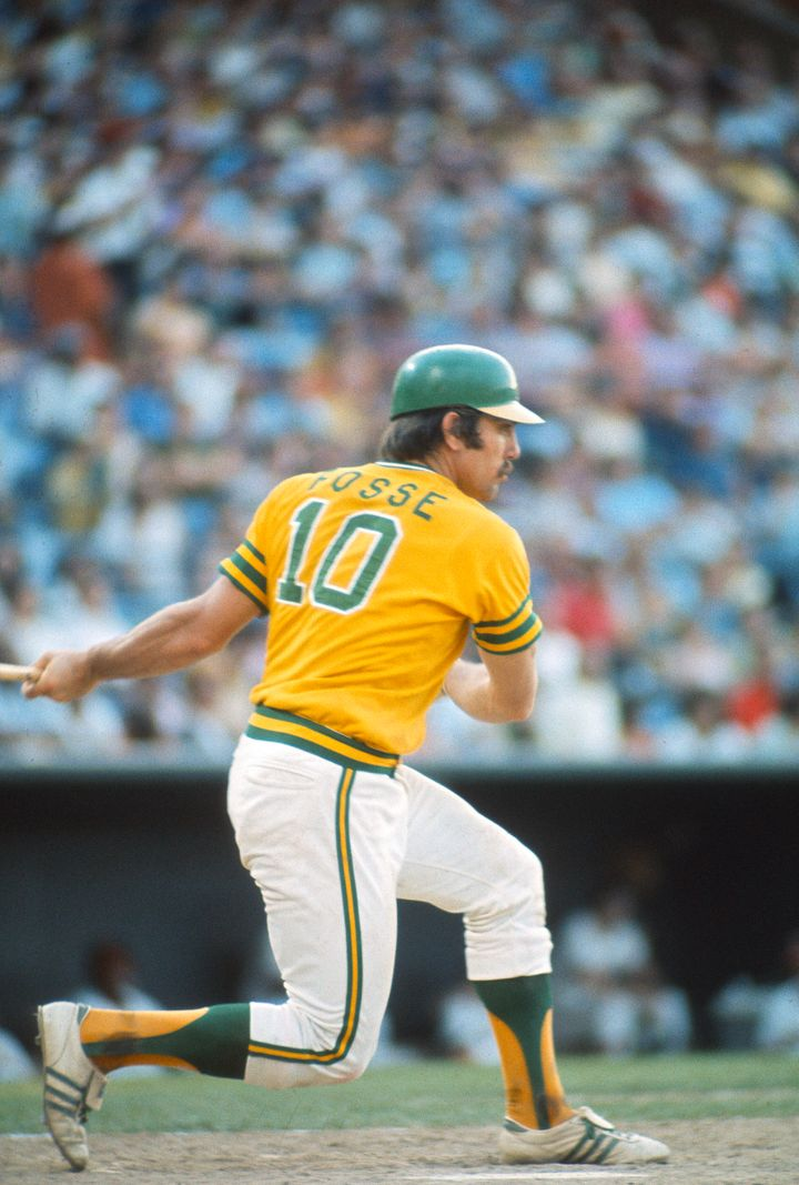 Ray Fosse at bat in an Oakland A's game in 1974.